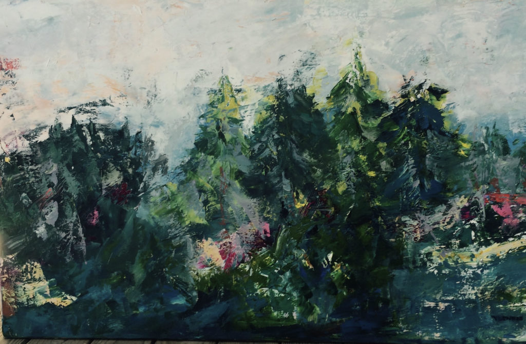 """Highland <br /> 48"""" x 30""""  <br /> Mixed Media on Canvas, Gallery Wrapped<br /> $2,500 <br /> <a href=""""/contact-purchase/?paintid=Highland"""">Purchase</a>"""