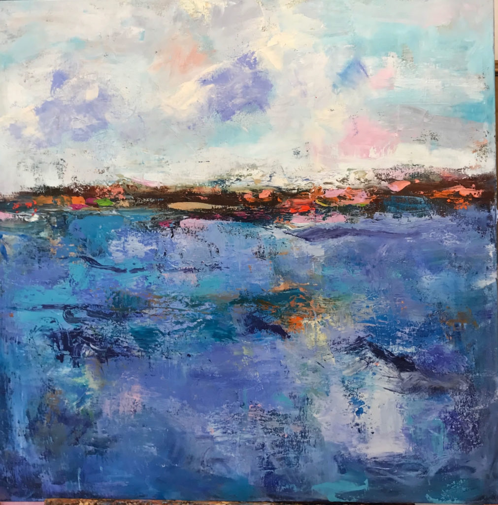"""My Place<br /> 30"""" x 30""""  <br /> Mixed Media on Canvas, Gallery Wrapped <br /> $2,300 <br /> <a href=""""/contact-purchase/?paintid=My Place"""">Purchase</a>"""