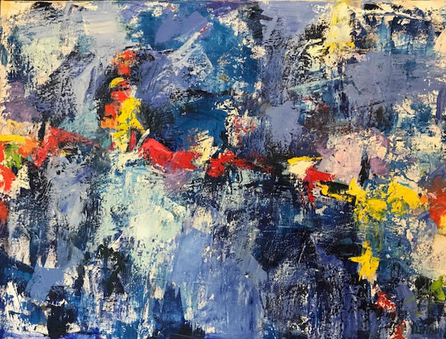"""Rave On <br /> 40"""" x 30""""  <br /> Mixed Media on Canvas, Gallery Wrapped <br /> $2,900 <br /> <a href=""""/contact-purchase/?paintid=Rave On"""">Purchase</a>"""