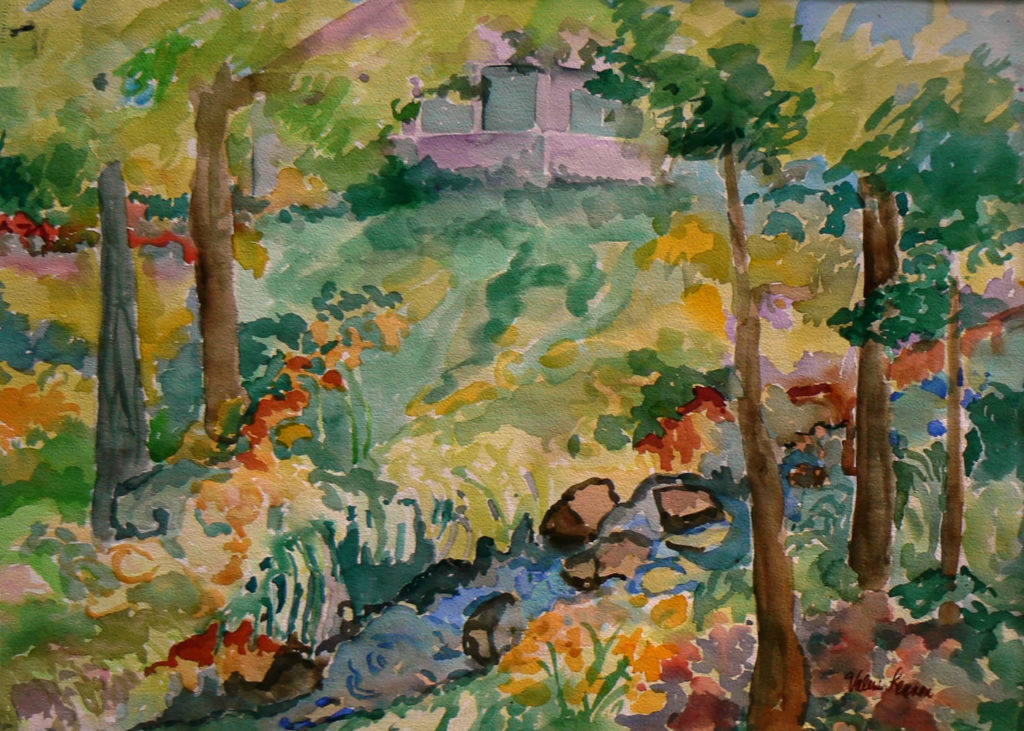 """Creekside Place <br /> 30"""" x 22""""  <br /> Watercolor <br /> $495 <br /> <a href=""""/contact-purchase/?paintid=Creekside Place"""">Purchase</a>"""
