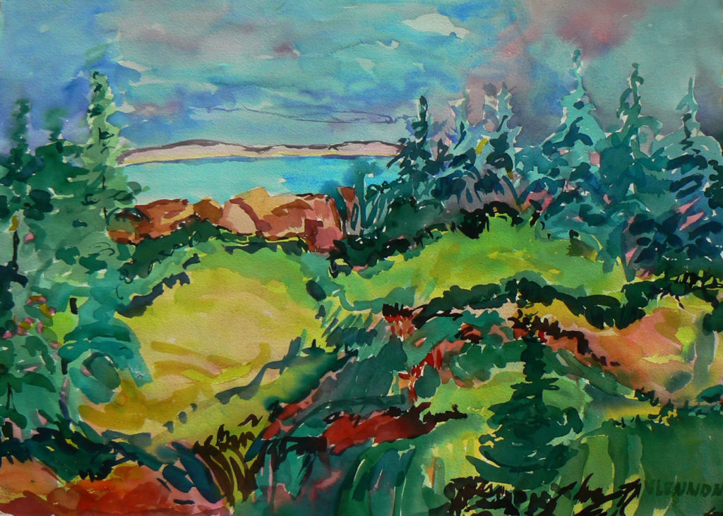 """Lake View <br /> 30"""" x 22""""  <br /> Watercolor <br /> $495 <br /> <a href=""""/contact-purchase/?paintid=Lake View"""">Purchase</a>"""