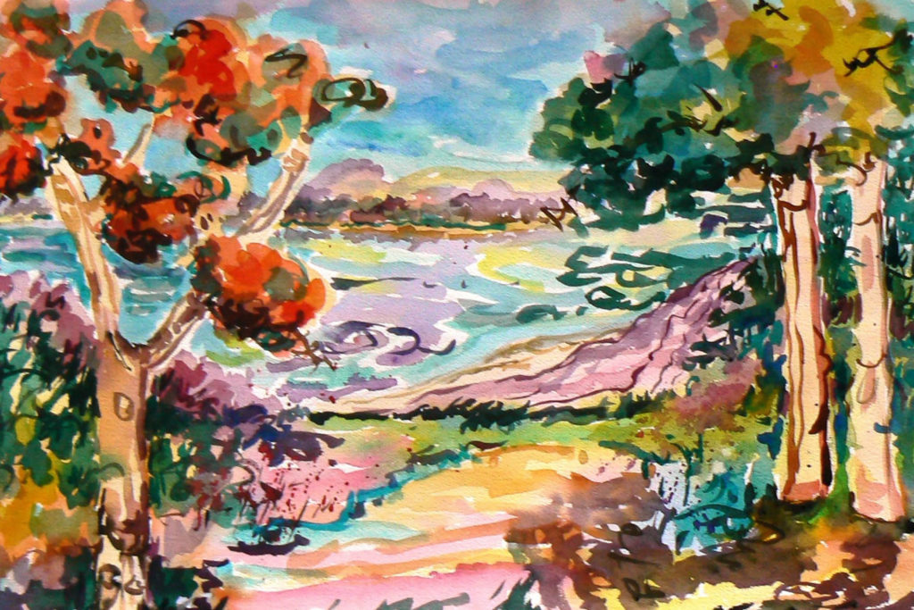 """True View <br /> 30"""" x 22""""  <br /> Watercolor <br /> $495 <br /> <a href=""""/contact-purchase/?paintid=True View"""">Purchase</a>"""