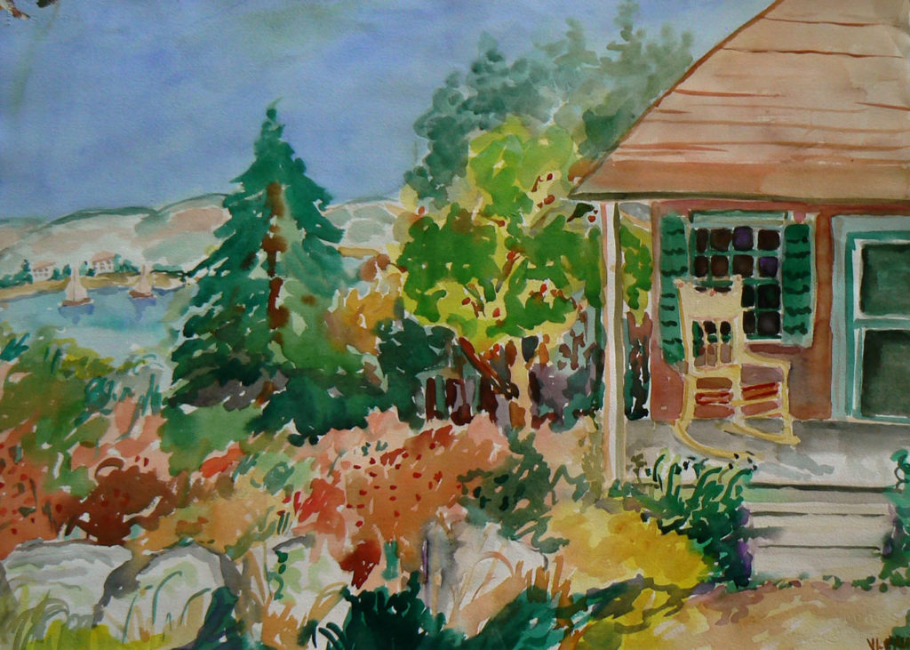 """View from the Maypole <br /> 30"""" x 22""""  <br /> Watercolor <br /> $495 <br /> <a href=""""/contact-purchase/?paintid=View from the Maypole"""">Purchase</a>"""